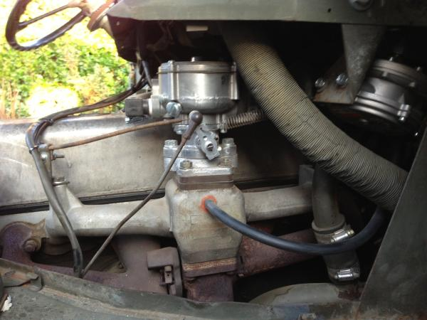 Unimog Propane Conversion on intake manifold